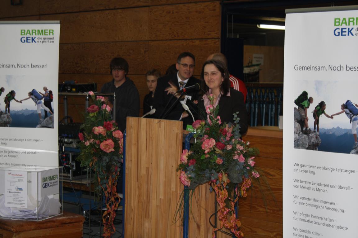 Abschlussveranstaltung Frau Leipold Schulleitung RWS