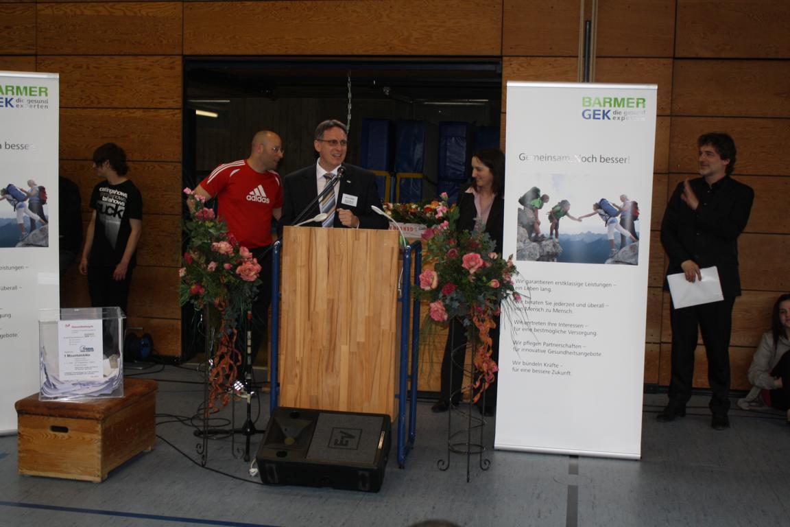 Abschlussveranstaltung Herr Steidl Barmer GEK
